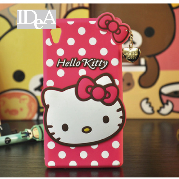 Sanrio 三麗歐 SONY  Z Z1 Z2 Z3  Hello Kitty 凱蒂貓 蝴蝶結點點 波點 手機殼  軟殼 矽膠殼