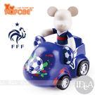 POPOBE熊 2014年巴西世界杯足球賽紀念版 車載系列 公仔車飾 法國隊7號 非 暴力熊 MOMO熊 BE@RBRICK熊