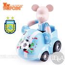 POPOBE熊 2014年巴西世界杯足球賽紀念版 車載系列 公仔車飾 阿根廷隊10號 非 暴力熊 MOMO熊 BE@RBRICK熊