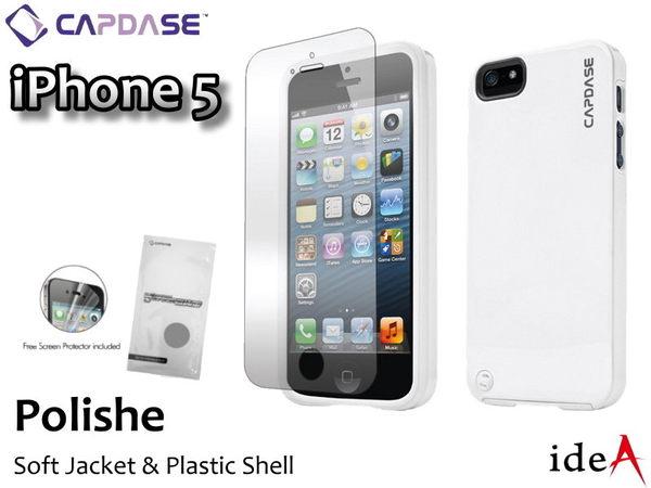 拋光多彩經典玲瓏2合1超強雙層保護殼 Apple iPhone5S/ 5 質感 卡登仕 CAPDASE Polishe系列 塑膠+矽膠