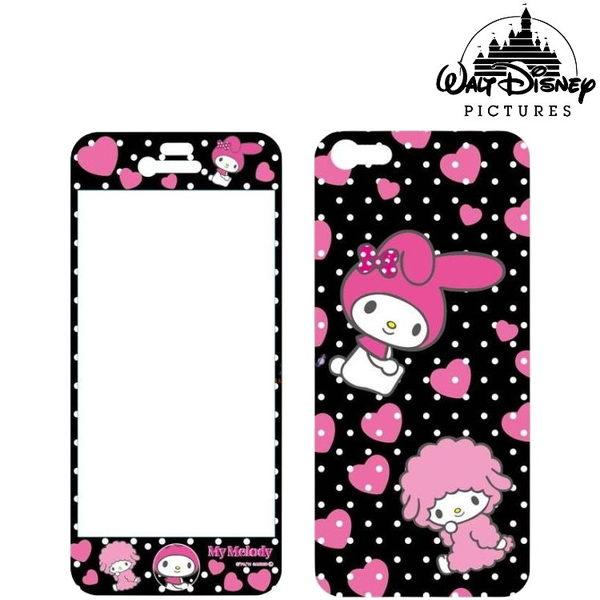 迪士尼 iPhone5S/ 5 專用 手機/機身保護貼 巴斯光年 米妮 胡迪 唐老鴨 醜ㄚ頭 三麗鷗 美樂蒂