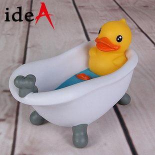 香港 Semk 創意 B. Duck 小鴨子浴缸泡澡造型肥皂盒 黃色小鴨 黑色小鴨
