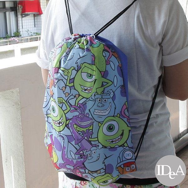 迪士尼 玩具總動員 怪獸大學 電力公司 雙肩背束口袋 抽繩束口包 後背包 鞋袋 練習袋 Training bag/B3living
