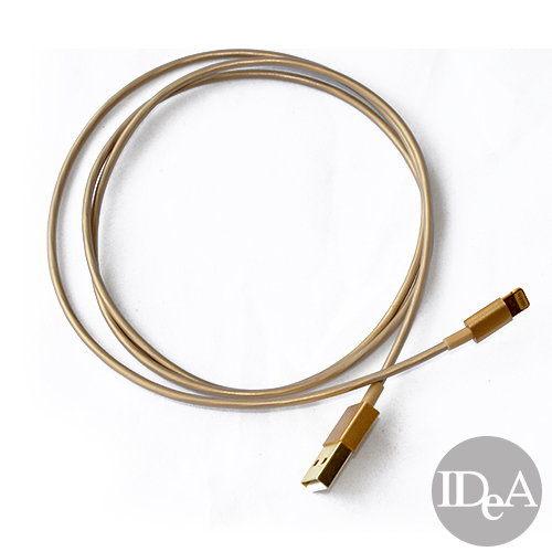 土豪金 蘋果 Apple lightning ios 7傳輸線 數據線 原廠品質 iPhone5S 5C iPad Air 4 5 mini Retina 充電 金色