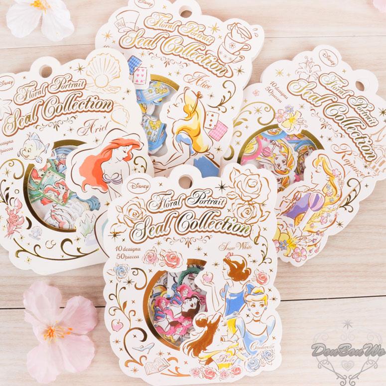 KAMIOJAPAN迪士尼公主系列迷你貼紙包綜合愛麗絲愛麗兒長髮公主461648海渡