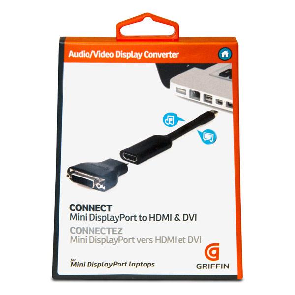 ::bonJOIE:: 美國進口 Griffin Technology Mini DisplayPort to HDMI or DVI 轉接線 GC17096 (全新盒裝) Video Display Converter