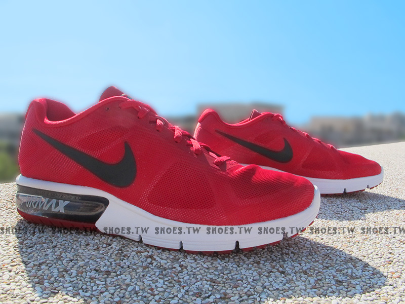 Shoestw【719912-601】NIKE AIR MAX SEQUENT 氣墊 慢跑鞋 紅黑白 男生