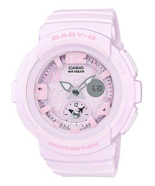CASIO BABY-G BGA-190BC-4B海灘旅行雙顯流行腕錶/粉紅44mm