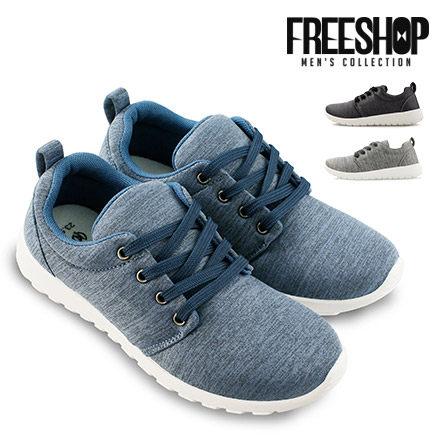 運動鞋 Free Shop【QSH0591】日韓風格麻色系質感低筒綁帶運動鞋休閒鞋 三色 (S117) MIT台灣製