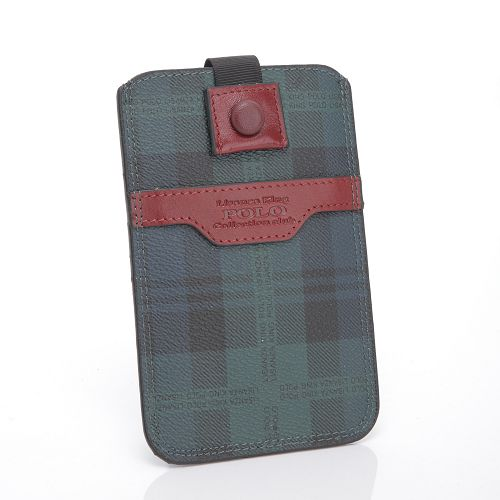 【Milla•Janes米拉.珍妮絲】英倫時尚POLO 藍綠格紋 手機皮套 可放iPhone!