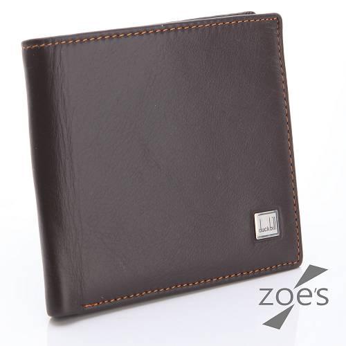 【Zoe's】頂級柔軟小牛皮 掀摺卡片夾 二折短夾(品味棕)