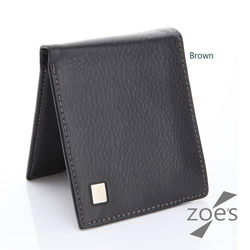 【Zoe's】頂級柔軟小牛皮 多收納 真皮二折短夾(品味棕)