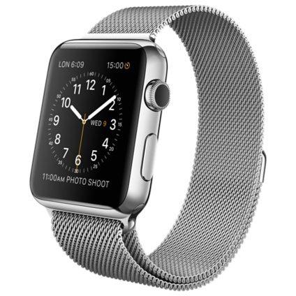 【現貨】第一代APPLE WATCH 原廠智慧型穿戴裝置、不鏽鋼錶殼搭配米蘭式錶環【 42 公釐】