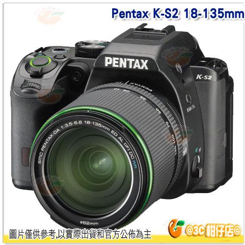 送登錄禮+相機包+大吹球+清潔液+拭鏡布+清潔刷+保護貼 Pentax K-S2 KS2 DAL 18-135mm WR 富堃公司貨 翻轉螢幕