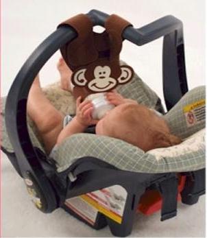 【淘氣寶寶】汽座提籃之免手扶輔助奶瓶吊帶.學習喝奶掛帶