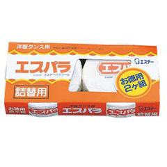 *新品上市*日本製*日本雞仔牌 備長炭 便利防蟲劑 圓狀吊掛式 補充包-2入-日本品牌