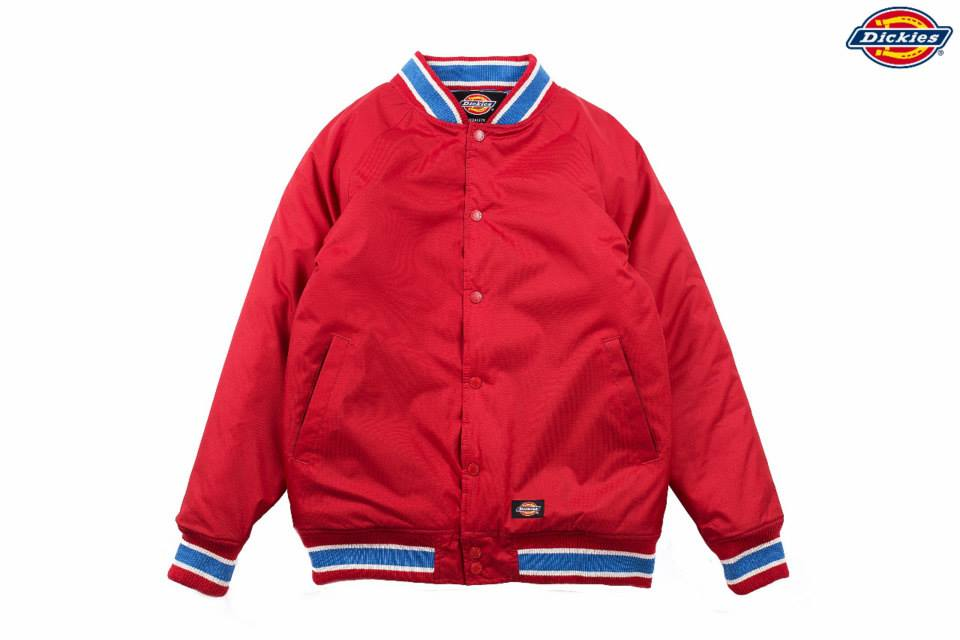 【WOWGOTU DICKIES 代理商授權販售店】Dickies 電繡棒球外套(紅藍兩色)