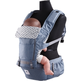 *babygo* 韓國 Pognae-No.5超輕量機能坐墊型揹巾【英國藍】POG511002