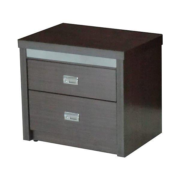 【尚品傢俱】432-05 菱格胡桃木紋2尺房間二抽收納櫃床邊櫃床頭櫃