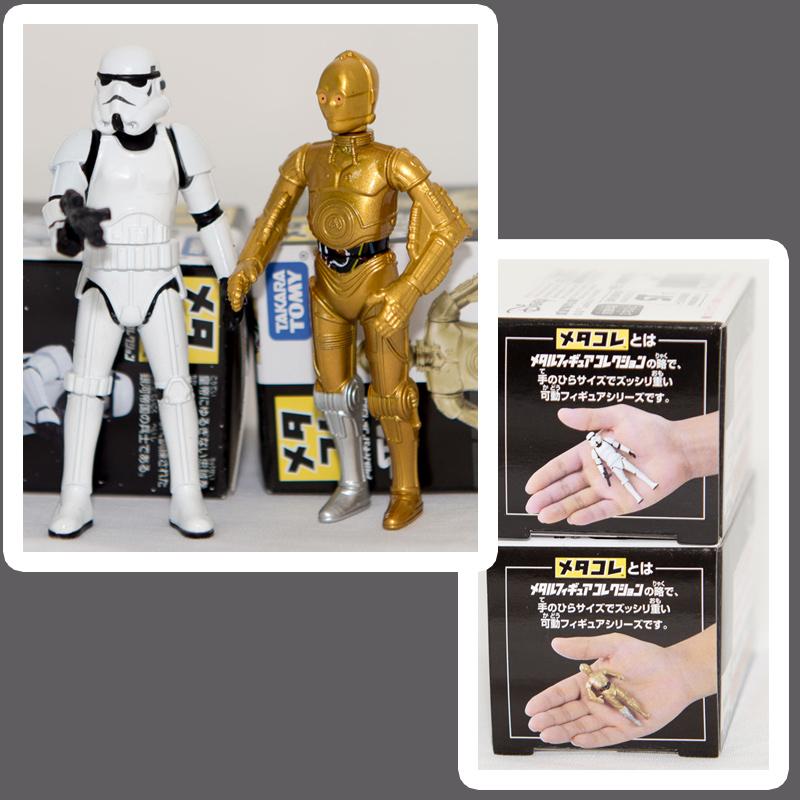 STAR WARS 星際大戰 C-3PO 與 白兵 兩盒一組 合金模型 TAKARA TOMY 日本帶回