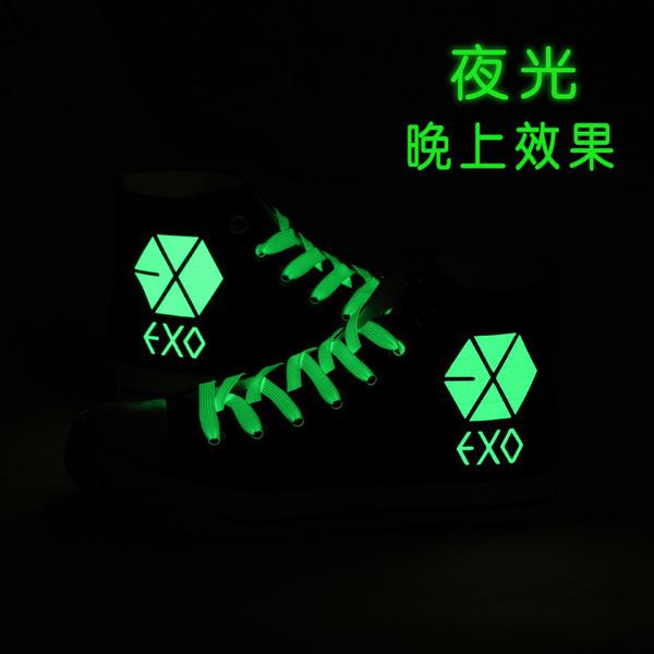 韓版夜光 EXO爆款休閒帆布鞋(現貨+預購)