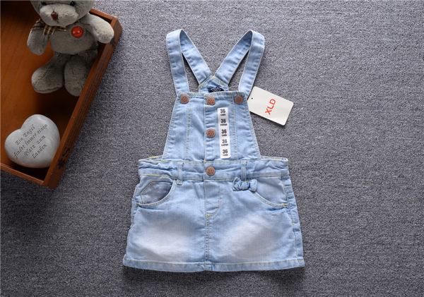 EMMA商城~兒童歐美專櫃百搭牛仔吊帶裙 嬰兒背帶裙