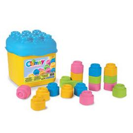 CLEMMY義大利軟積木-20pcs粉色桶裝 14771