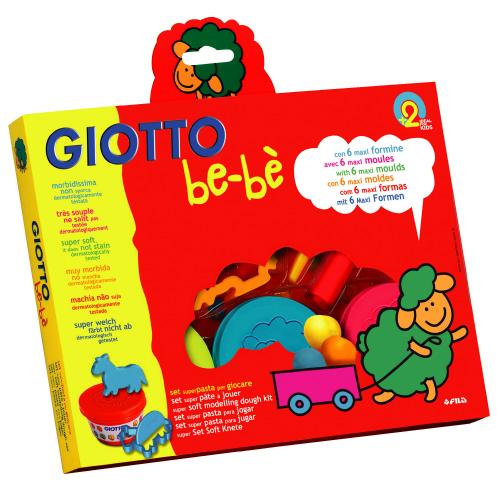 【義大利 GIOTTO】寶寶黏土派對(黏土100克x3 .切刀.滾筒.印模x6)