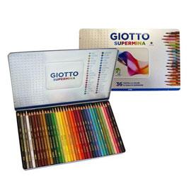 【義大利 GIOTTO】SUPER MINA高色度彩色鉛筆36色