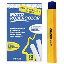 【義大利 GIOTTO】無灰粉筆(白色10支)+粉筆護套(1入,有4色隨機出貨)