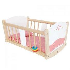 【德國Hape愛傑卡】嬰兒娃娃系列嬰兒搖床