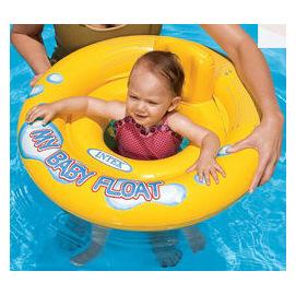 INTEX BABY圓型泳圈59574 (11KG 1-2歲 67CM直徑 底褲型 有靠枕)