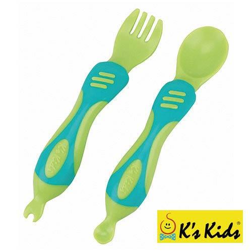 K's Kids 奇智奇思湯叉組(綠色/橘色)