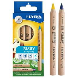 【德國LYRA】三角原木色鉛筆(12cm)6色