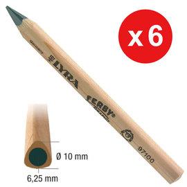 【德國LYRA】兒童三角原木鉛筆(12cm) 6入 產地:德國