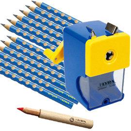 LYRA三角洞洞鉛筆超值組 @產品內容:三角洞洞鉛筆12入+鉛筆延長器+削鉛筆機  ★加贈:LYRA雙孔削筆器1入