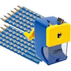【德國LYRA】三角洞洞鉛筆超值組 @產品內容:三角洞洞鉛筆12入+削鉛筆機   ★加贈:LYRA雙孔削筆器1入