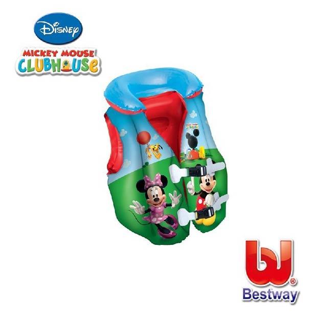 《Disney》米奇米妮兒童助浮背心(L)/游泳背心/充氣救生衣(69-13521)91030