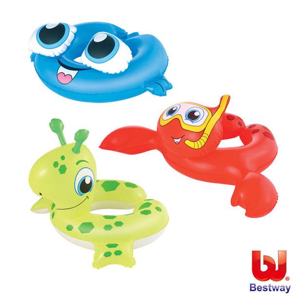 《Bestway》水中生物造型充氣泳圈-恐龍、螃蟹、鯨魚(69-21960)