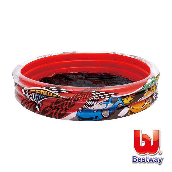 《Bestway》賽車圖案充氣泳池/賽車圖案充氣水池(69-08619)