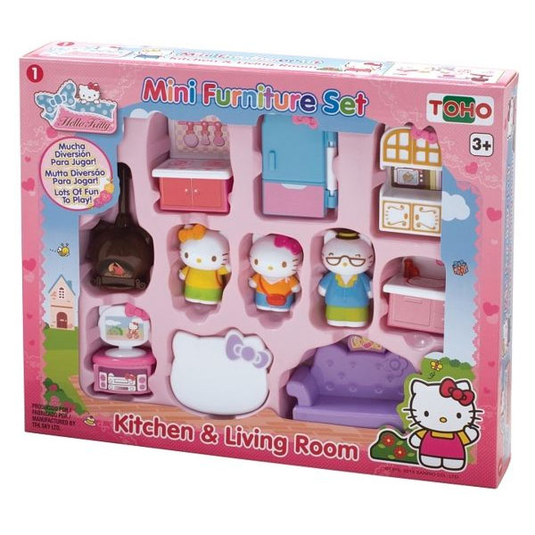 KT迷你家具組--廚房與客廳/ Mini Furniture Set -Kitchen & Living Room / Hello Kitty