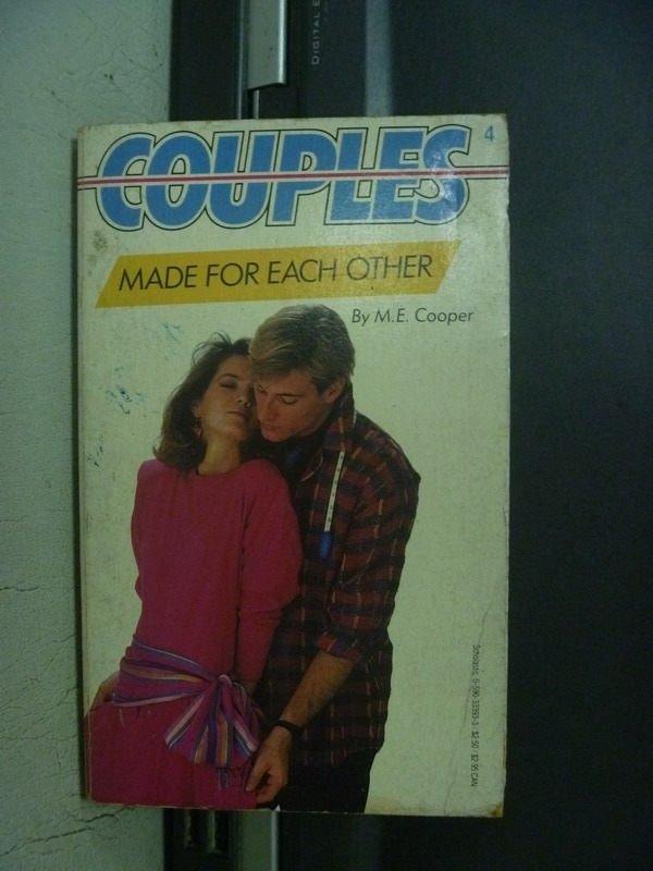 【書寶二手書T7/原文小說_OBW】COUPLES MADE FOR EACH OTHER_1985