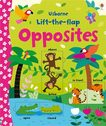 英國 Usborne Lift-The-Flap 翻翻書 Opposites 相對概念  *夏日微風*