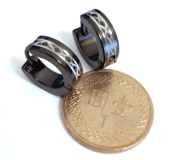 X車花(一對) 西德鋼耳環批發耳扣易扣