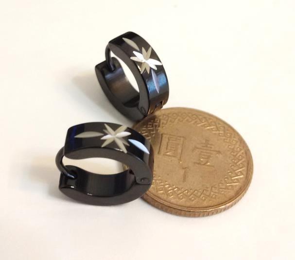 星光  (一對) 不銹鋼耳環批發耳扣易扣(耳針款)