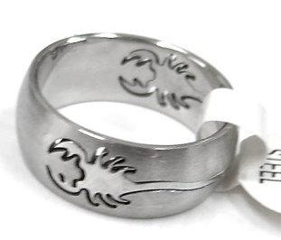 蠍子天蠍座白鋼戒指★99元輕鬆購