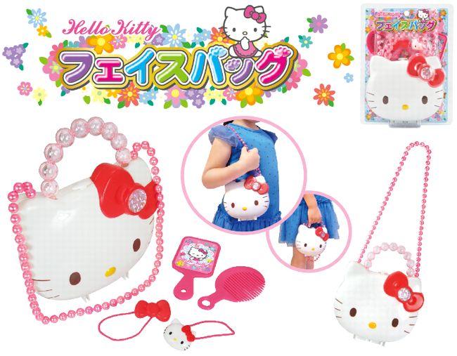 『日本代購品』 三麗鷗 Hello Kitty 凱蒂貓 手提化妝箱 可愛肩背包