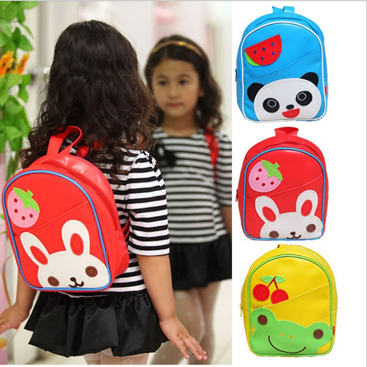 WallFree窩自在★可愛卡通動物水果圖案兒童書包雙肩包休閒肩背包