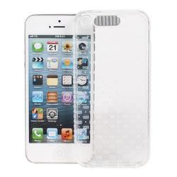 Ultimate- iPhone SE /IPHONE 5 /5S 小方紋 來電閃燈 全透軟質手機外殼防摔抗震後背蓋保護殼 清水套 透明殼 透明軟殼