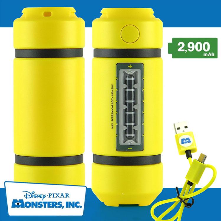 【Disney 】怪獸電力公司2900mAh 尖叫能源轉換器 能量瓶 能量罐 移動電源 怪獸大學